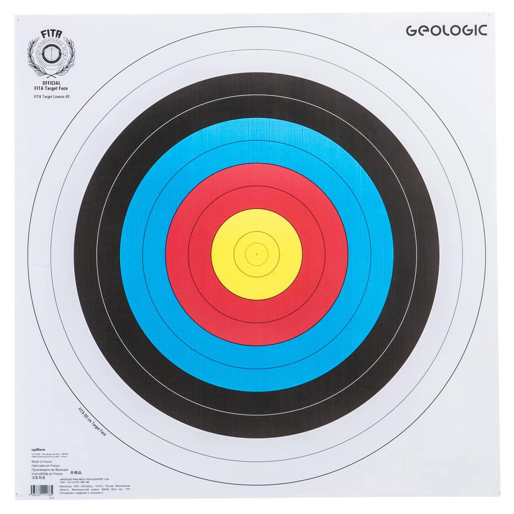 9ff4a770a Alvo de papel para arco e flecha World Archery Geologic. Alvo de papel para arco  e flecha World Archery Geologic