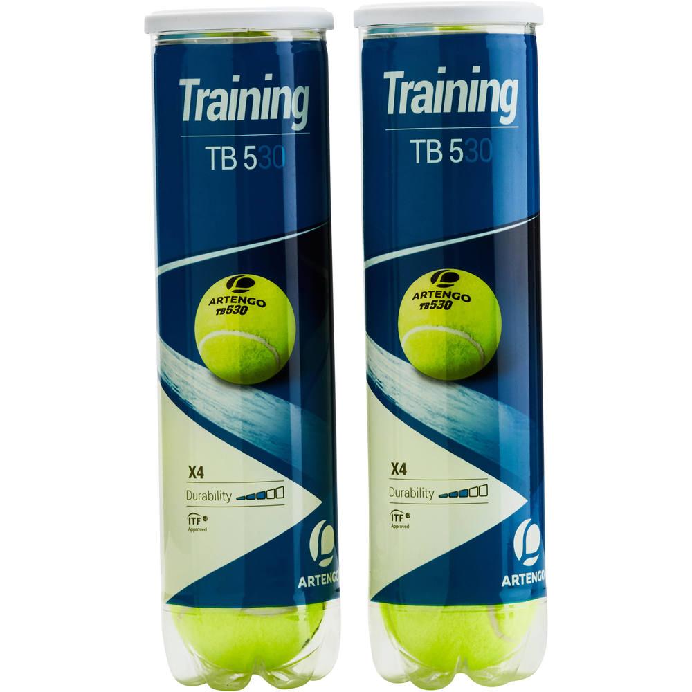 d88429a55 Bola de Tênis TB530 Bi-pack Artengo (2 Tubos de 4 bolas) - Decathlon