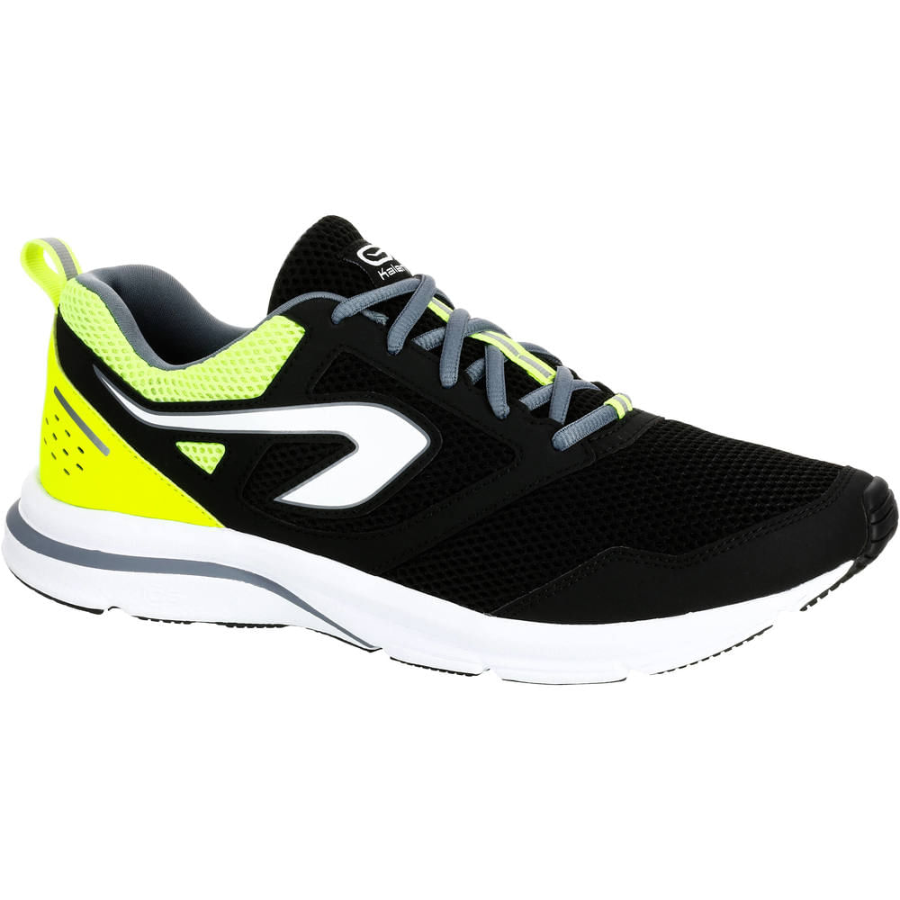 Tênis masculino de corrida Run Active Kalenji - RUN ACTIVE M M SHOES BLK cdb84cf8b55