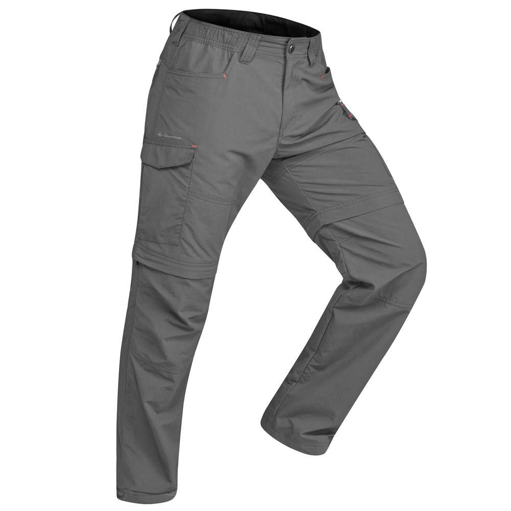 Calça masculina de trekking modular Forclaz100 - decathlonstore bc0ab647b5bc0