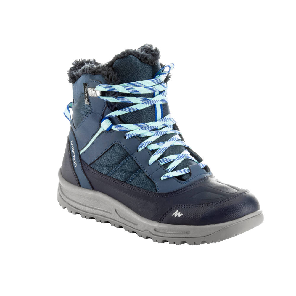 e5e164a876eaf Bota feminina de trilha na neve impermeável SH100 Warm. Bota feminina de trilha  na neve impermeável ...