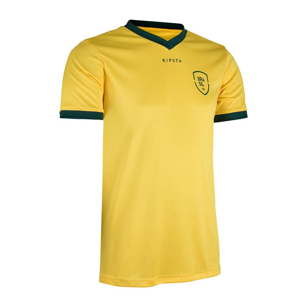 90ac331e38 Camiseta Brasil Kipsta - decathlonstore