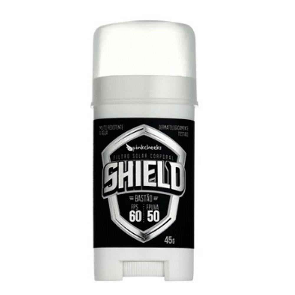 1c183557b Filtro solar corporal shield bastão 45g Pink Cheeks -   SHIELD BASTÃO 45G