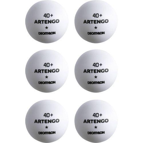 8085bea45 Bola de Tênis de mesa de plástico TTB  40 + Artengo (6 unidades) - TTB 100   40+ X6 WHITE