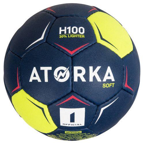 Bola de handebol H100 infantil T1 - Bola de Handebol H100 Soft Atorka Copy