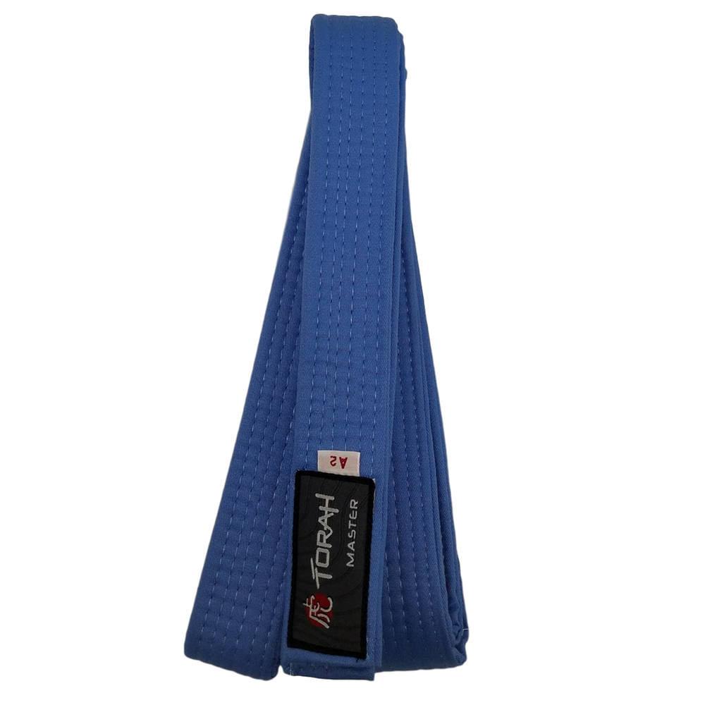 Faixa de Graduação Azul Judo Karate Adulto A3 -  FAIXA MASTER AZ CELESTE  TORAH f836eacc9e5