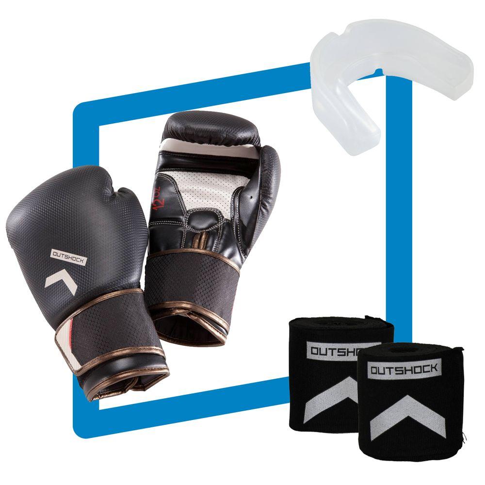 c73cbb6cf Kit de Boxe e Muay Thai de Luvas Carbon BG500