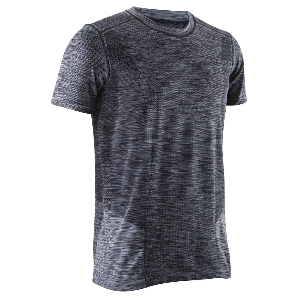 Camiseta Masculina Yoga - Sem costura Bordô - YOGA+ M 500 TS BLACK b540701c9723