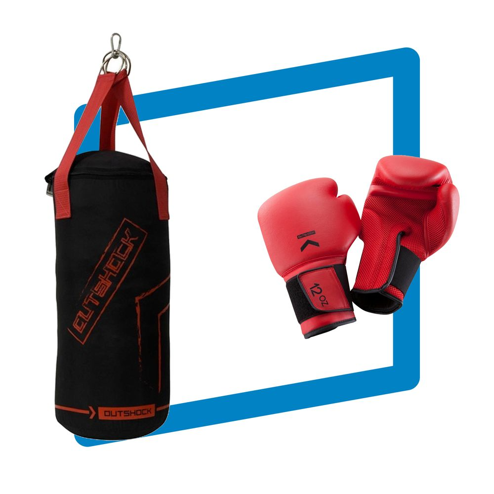 2dac205e1 Kit Infantil Boxe e Muay Thai com Saco Pancada e Luva. Kit Infantil Boxe e Muay  Thai com Saco Pancada e Luva