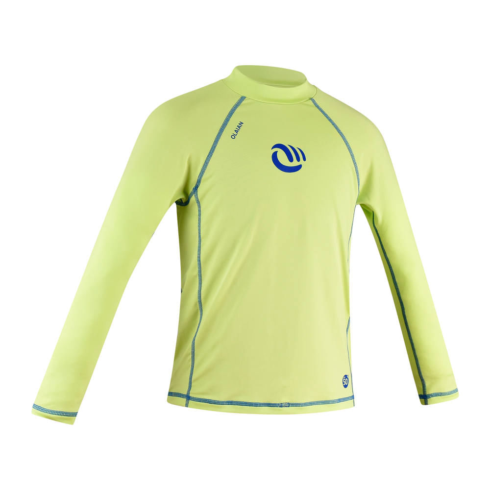 9d142b866f Camiseta proteção solar top 100 manga longa menino verde. Camiseta proteção solar  top 100 manga longa ...