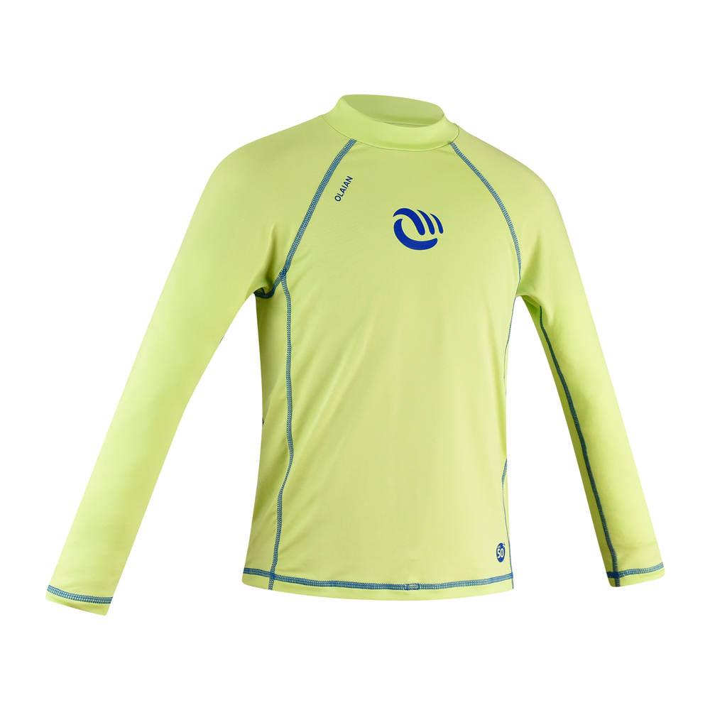 c260a92c6b Camiseta proteção solar top 100 manga longa menino verde. Camiseta proteção  solar top 100 manga longa ...