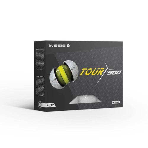 Bola Golfe Tour 900 Inesis (x12) - TOUR 900 GOLF BALL X12 WHITE, NO SIZE