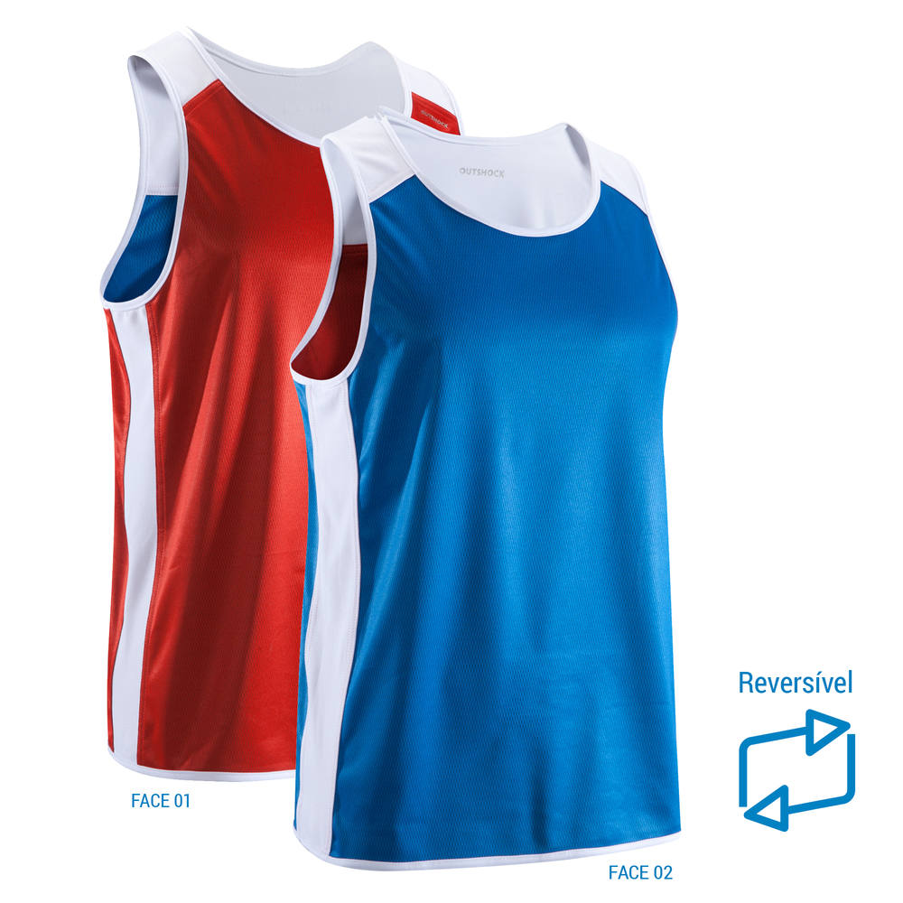 ac9ba9bcb4 Camiseta Regata Boxe Reversível Bicolor para Competição 900 Unissex ...