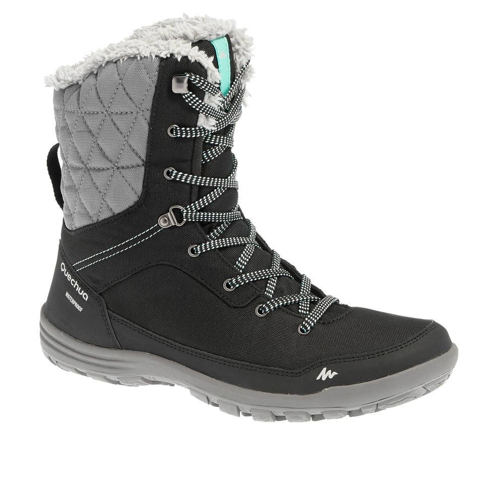 f50d0eeb088d2 Bota feminina de trilha na neve impermeável SH100 High. Bota feminina de trilha  na neve impermeável ...