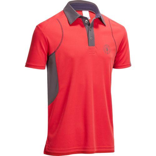 Camisa polo de manga curta hipismo masculina mesh vermelho e cinzento jpg  500x500 Camiseta polo vermelho 43fded578576d