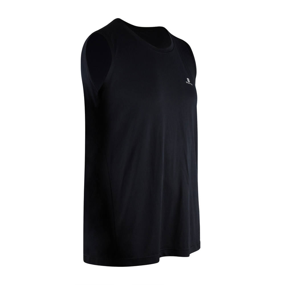 Regata leve masculina para fitness 100 Domyos -  REGATA PTO CREPONADA MASC  120 d93eb04fb5d