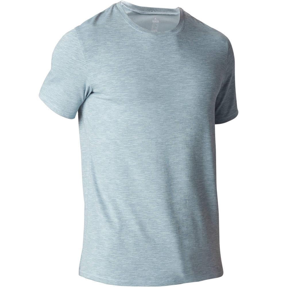 f36aef4481 Camiseta Ginástica e Pilates Masculina Domyos - 500 REGULAR GYM MEN M  T-SHIRT ARONA