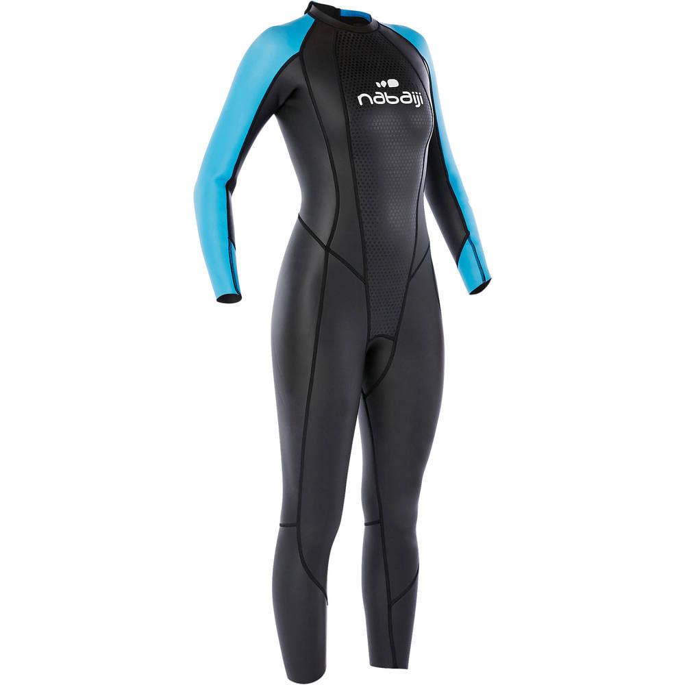 310e29b29 Traje de natação em águas abertas neoprene OWS500 3 2mm feminino Nabaiji.  Traje de natação em águas abertas neoprene OWS500 3 2mm feminino Nabaiji
