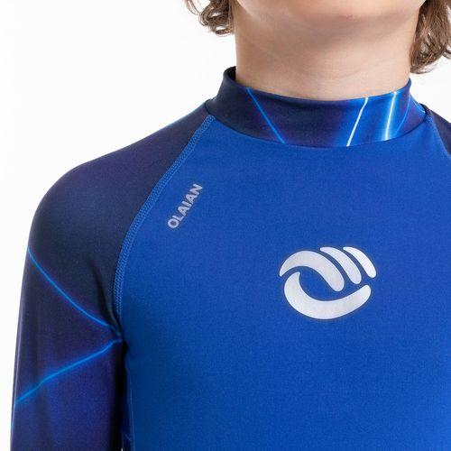 Camiseta top solar manga longa com proteção solar - Camiseta com proteção  UV50+ infantil 100 Olaian  TOP UV ML BOY PSYCONEON PV19 567bf359124