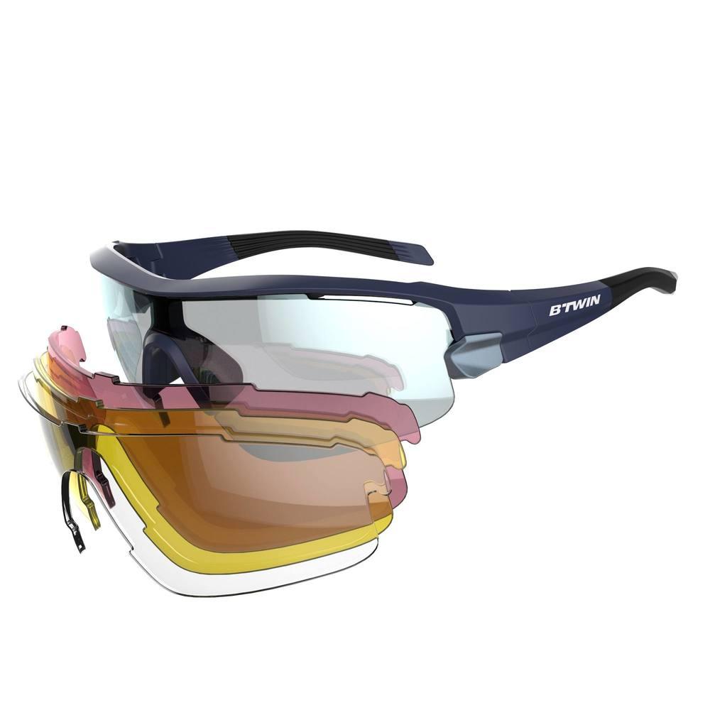 82391e1ca84e2 Óculos para ciclismo Road 900 com 4 lentes - ROADR 900 NAVY PK4