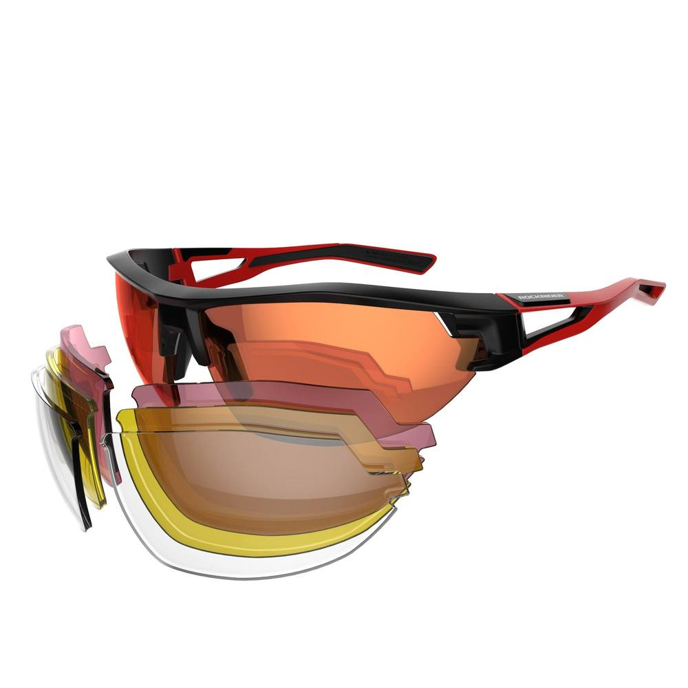 63cdb11c1 Óculos para MTB XC 100 com 4 lentes intercambiáveis - Decathlon