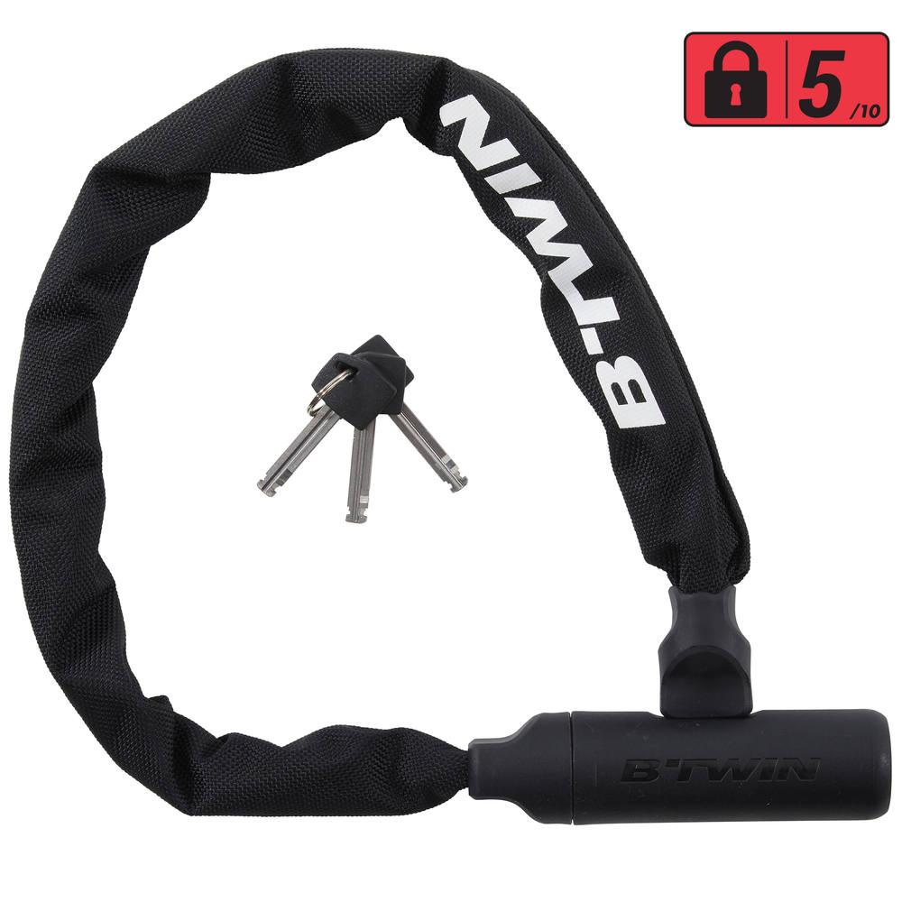 f9063f3dabee2 Cadeado de corrente para bicicleta 500. bike-lock-500-chain-black-1