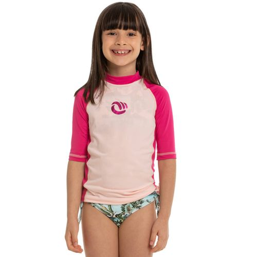 f078543c38 Camiseta top manga curta menina rosa - Decathlon