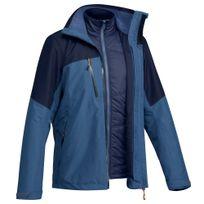 4164fd0a2 Jaqueta masculina de trekking Rainwarm500 3 em 1 - DecathlonPro