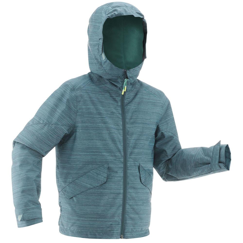4c5d4fe86 Jaqueta infantil de Trilha quente e impermeável Hike 100 Warm ...