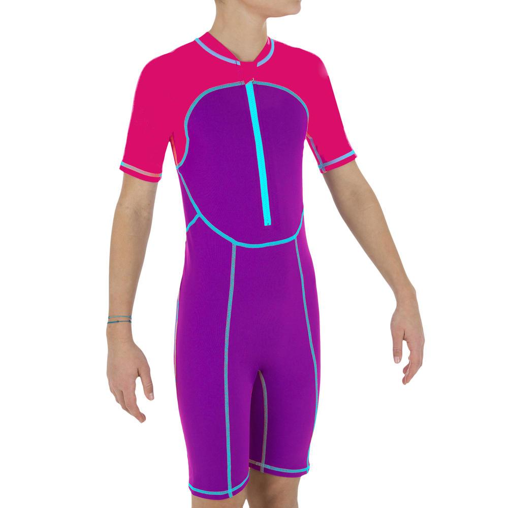 Maiô natação infantil rosa - decathlonstore 7db98fc3f5bea
