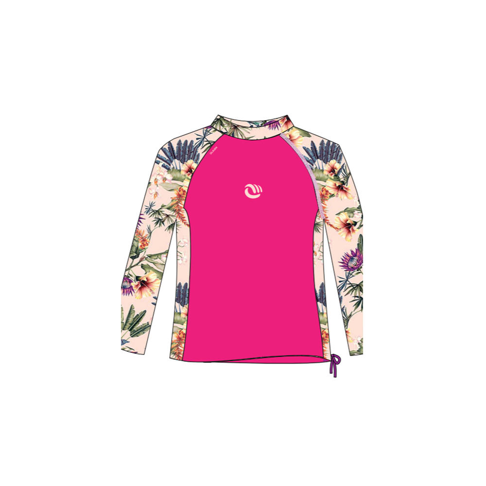 f151c1a31e Camiseta top solar manga longa infantil com proteção solar 50+ - Camiseta  com proteção solar UV50+ infantil Olaian  TOP UV ML GIRL SANTO PV19