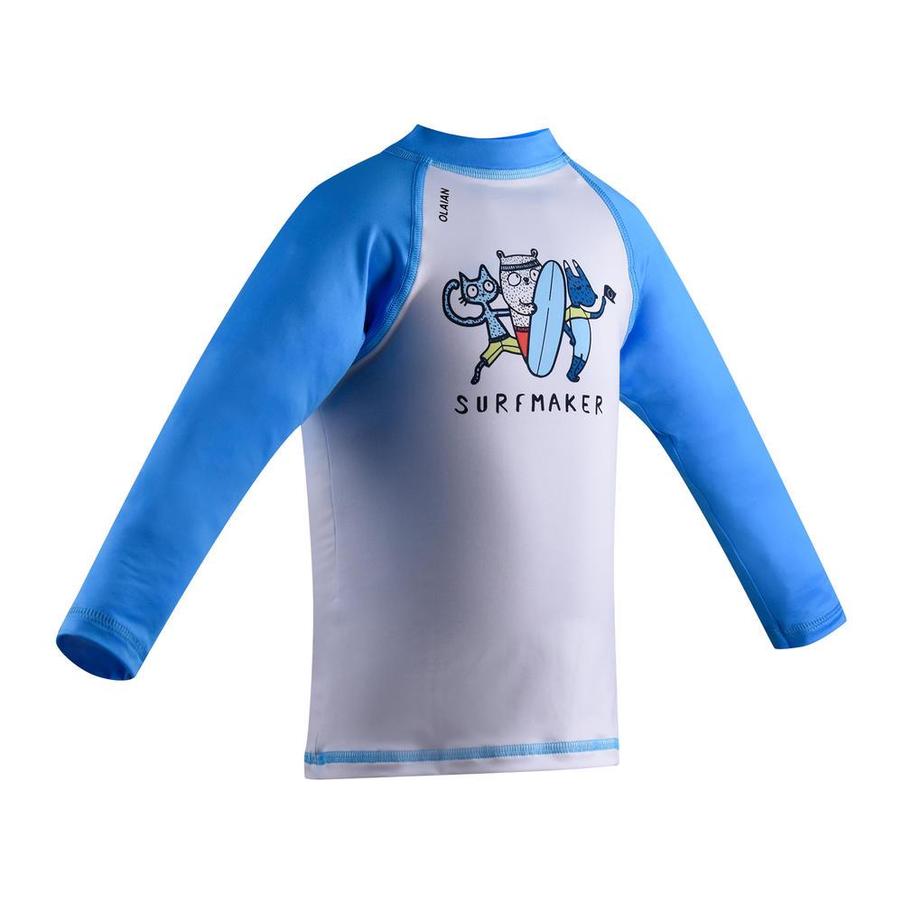 d15769db8815 Camiseta com proteção solar anti-UV para Bebês - Decathlon