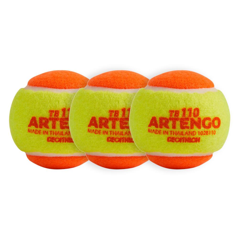 fbbefc6764 Bola de Tênis TB 110 Artengo- Ponto laranja (3 bolas) - decathlonstore