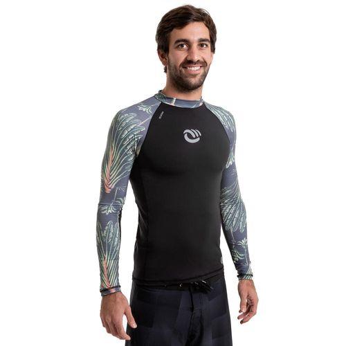e09fb8663 CAMISETA MANGA LONGA PROTEÇÃO SOLAR MASCULINA DE SURF 500 OLAIAN Dios
