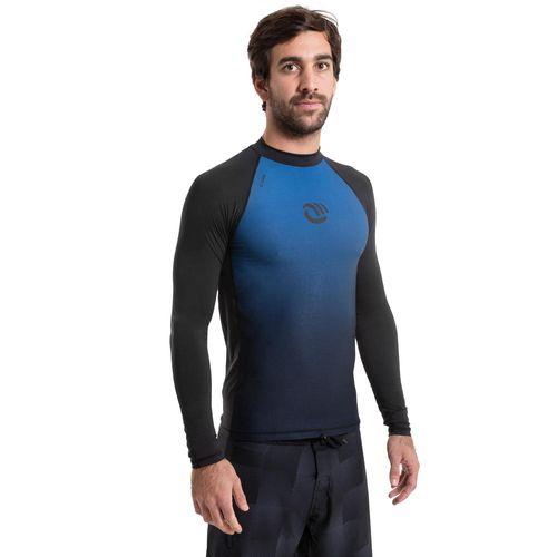 CAMISETA MANGA LONGA PROTEÇÃO SOLAR MASCULINA DE SURF 500 OLAIAN gradient  azul - decathlonstore ae72770bad1