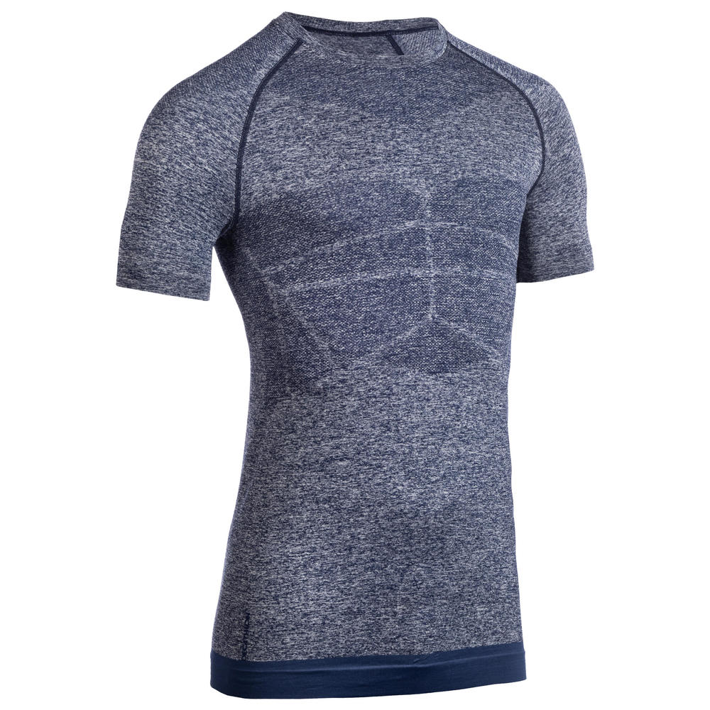 Camiseta Masculina de Compressão de Secagem Rápida Azul - Domyos ... 292c64c2a8a1c