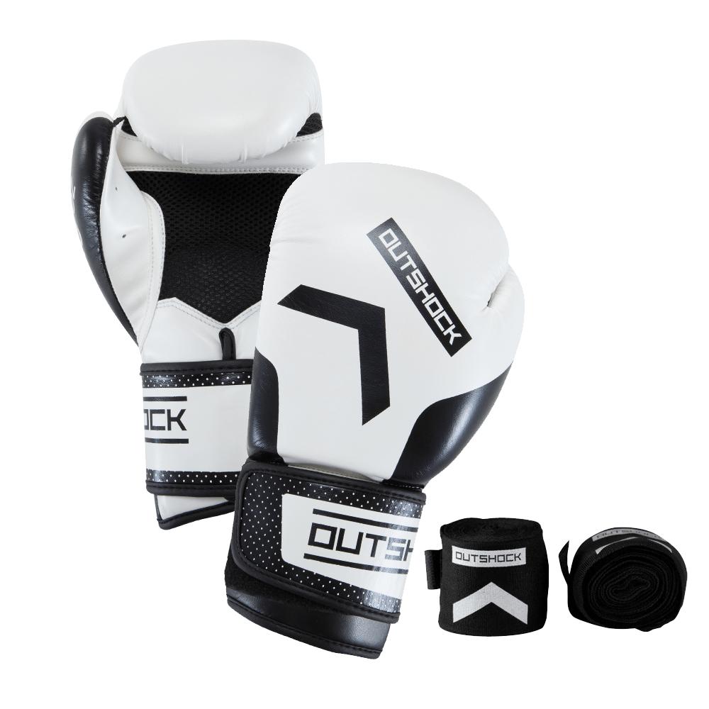 76436005c Kit Branco com Luva e Bandagem para Boxe e Muay Thai. Kit Branco com Luva e  Bandagem para Boxe e Muay Thai