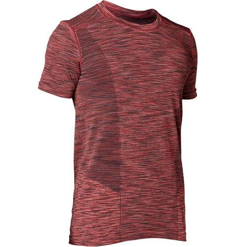 7ce4c37899 Camiseta Masculina Yoga - Sem costura Bordô - Decathlon