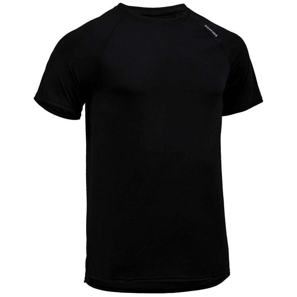 3e08aca6894e5 Camiseta masculina de academia FTS 100 - FTS 100 M T-SHIRT BLACK