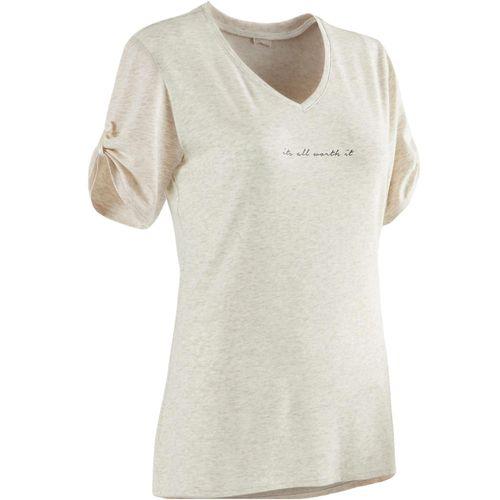 Camiseta feminina Pilates e Ginástica 510 - decathlonstore 441e7643493