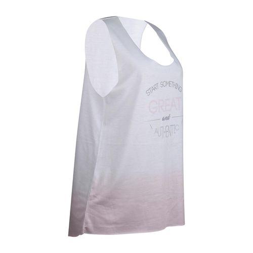 Camiseta regata básica print feminina Ginástica e Pilates ... d1e2a779277