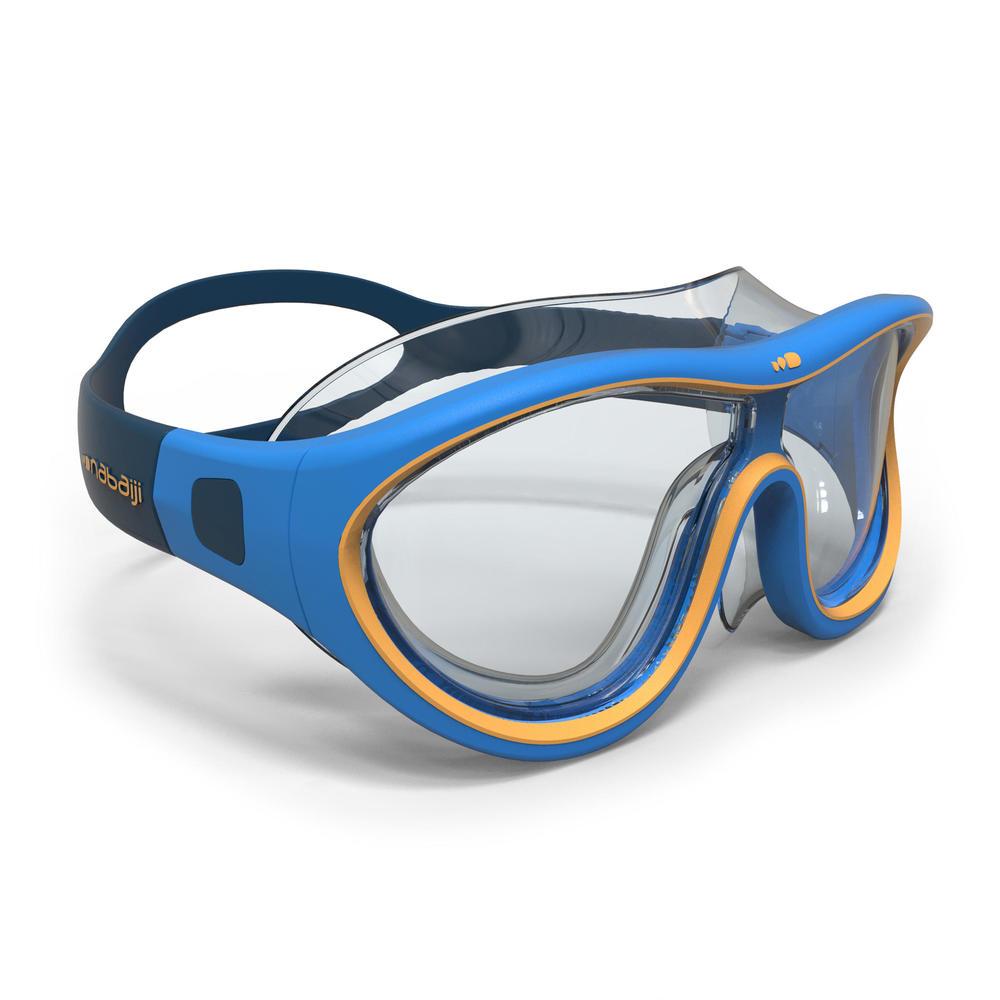 21635b1d6 Máscara de natação Swimdow 100 tamanho pequenol Nabaiji - MASK 100 SWIMDOW  S BLUE YELLOW*, S. Máscara de natação Swimdow 100 tamanho pequenol Nabaiji