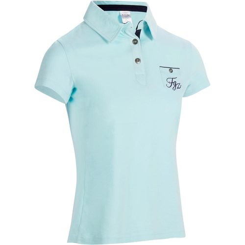 09c2bda29 Camisa Polo de Manga Curta Hipismo Feminina PL140 Verde-água -  decathlonstore