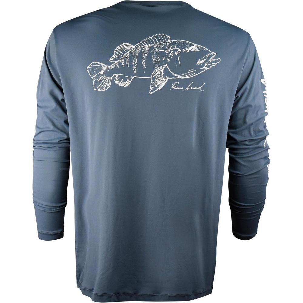 ddeef3a82 Camiseta de manga comprida masculina para pesca Catch Release ...