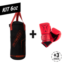 d2d670a8a Kit Mini Saco Boxe + Luva 6Oz