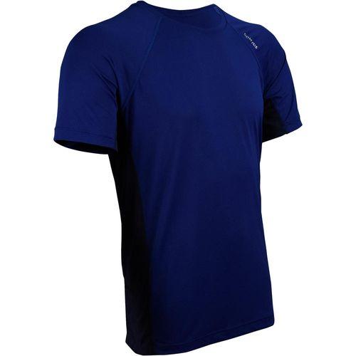 Camiseta Fitness Tecido Leve 100 Azul Marinho