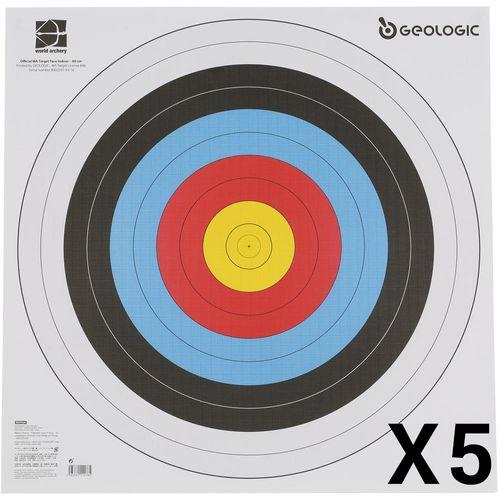 Alvo Oficial Papel 60x60 com 5 folhas - TARGET FACE 60X60 CM X5, NO SIZE