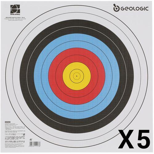 Alvo Oficial Papel 40x40 com 5 folhas - TARGET FACE 40X40 CM X5, NO SIZE
