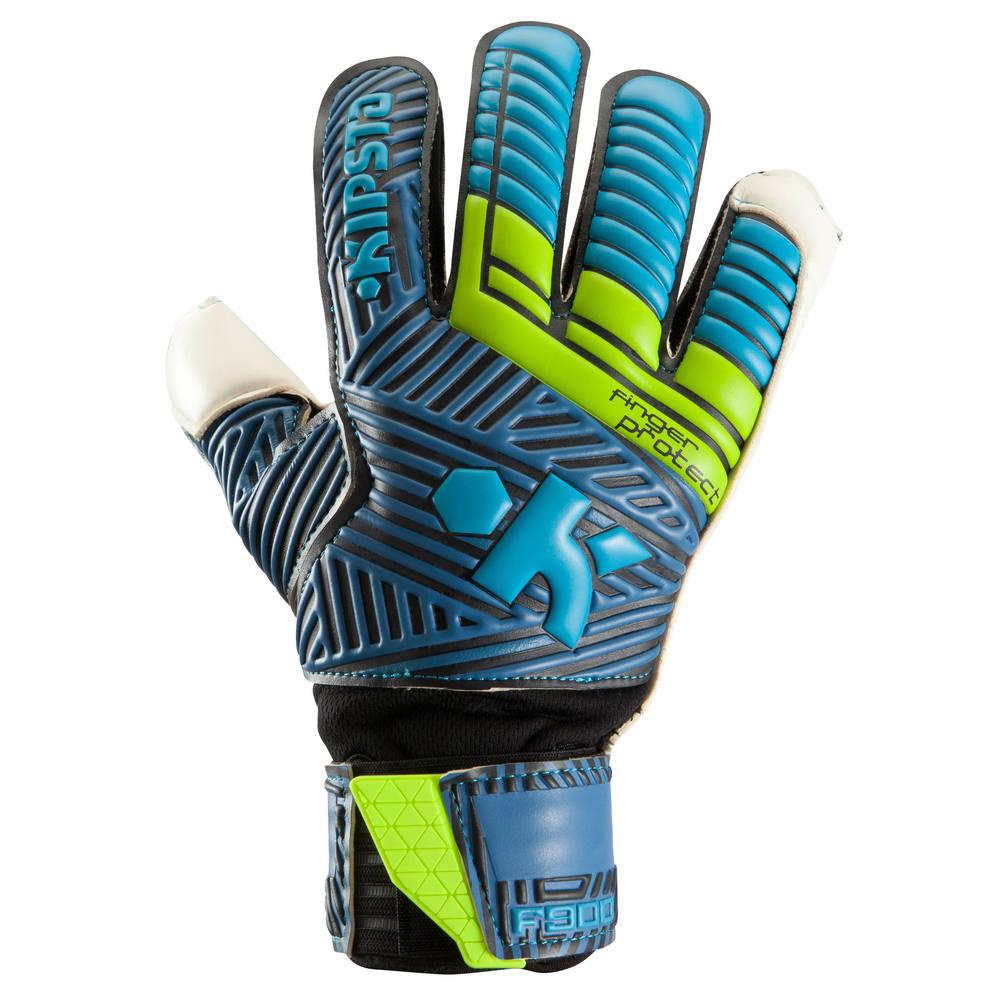 Luvas de Goleiro Adulto F940 Protect Kipsta - GANT F900 PROTECT  BLUE YELLOW 0129aca04ae88