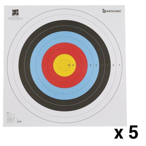 Alvo Oficial Papel 80x80 com 5 folhas - TARGET FACE 80X80 CM X5, NO SIZE